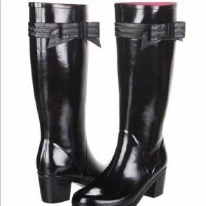 Kate Spade tall bow rain boots